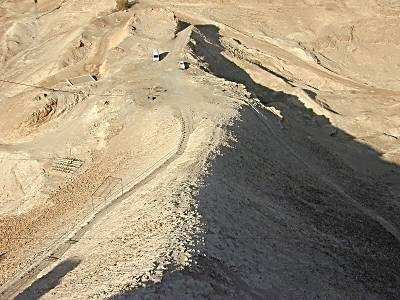 Masada siege ramp from above